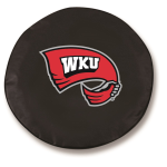 Western Kentucky Hilltoppers Black Tire Cover By HBS