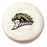 Western Michigan Broncos White Tire Cover By HBS