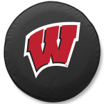 Wisconsin Badgers College Black Spare Tire Cover By HBS