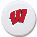Wisconsin Badgers White Spare Tire Cover By HBS