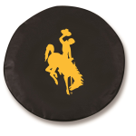 Wyoming Cowboys Black Spare Tire Cover By HBS