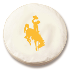 Wyoming Cowboys White Spare Tire Cover By HBS