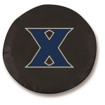 Xavier Musketeers Black Spare Tire Cover By HBS