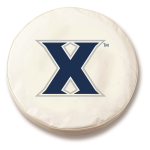 Xavier Musketeers White Spare Tire Cover By HBS