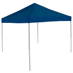 Navy Blue Tent - 9 x 9 Plain Colored Economy Canopy