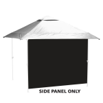 Plain Black Tent Side Panel - Logo Brand