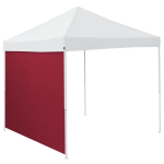 Plain Garnet Red Tent Side Panel - Logo Brand