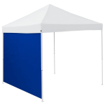 Plain Royal Blue Tent Side Panel - Logo Brand