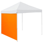 Plain Tangerine Orange Tent Side Panel - Logo Brand