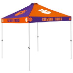 Clemson Tent w/ Tigers Logo - 9 x 9 Checkerboard Canopy