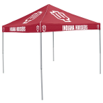 Indiana Tent w/ Hoosiers Logo - 9 x 9 Solid Color Canopy