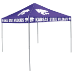 Kansas State Tent w/ Wildcats Logo - 9 x 9 Solid Color Canopy