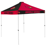 Louisville Tent w/ Cardinals Logo - 9 x 9 Checkerboard Canopy
