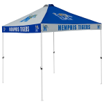 Memphis Tent w/ Tigers Logo - 9 x 9 Checkerboard Canopy