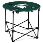Michigan State Spartans Round Tailgating Table