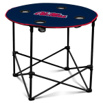 Ole Miss Rebels Round Tailgating Table