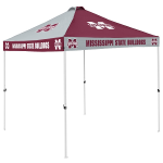 Mississippi State Tent w/ Bulldogs Logo - 9 x 9 Checkerboard Canopy