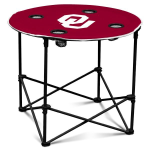 Oklahoma Sooners Round Tailgating Table