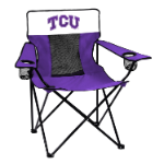 Texas Christian Elite Chair w/ Horned Frogs Logo