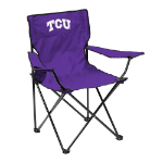 Texas Christian Quad Chair w/ Horned Frogs Logo