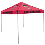 Texas Tech Tent w/ Red Raiders Logo - 9 x 9 Solid Color Canopy