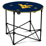 West Virginia Mountaineers Round Tailgating Table