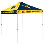 West Virginia Tent w/ Mountaineers Logo - 9 x 9 Checkerboard Canopy