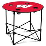 Wisconsin Badgers Round Tailgating Table