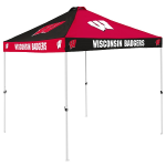 Wisconsin Tent w/ Badgers Logo - 9 x 9 Checkerboard Canopy
