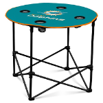 Miami Dolphins Round Tailgating Table