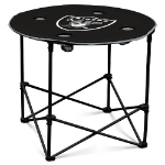 Oakland Raiders Round Tailgating Table