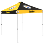 Pittsburgh Tent w/ Steelers Logo - 9 x 9 Checkerboard Canopy