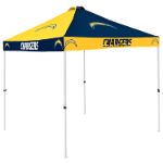 Los Angeles Tent w/ Chargers Logo - 9 x 9 Checkerboard Canopy