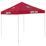 San Francisco Tent w/ 49ers Logo - 9 x 9 Solid Color Canopy