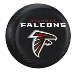 Atlanta Tire Cover with Falcons Logo on Black Vinyl - Standard