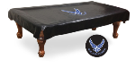US Air Force Pool Table Cover w/ Falcons Logo - Black Vinyl