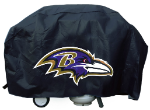 Baltimore Grill Cover with Ravens Logo on Black Vinyl - Deluxe