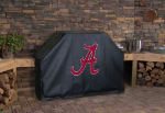 Alabama Grill Cover with Crimson Tide Script A Logo on Vinyl