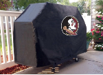 Florida State Grill Cover with Seminoles Logo on Black Vinyl