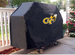 Georgia Tech Grill Cover with Yellow Jackets Logo on Black Vinyl