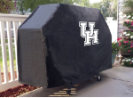 Houston Grill Cover with Cougars Logo on Black Vinyl