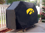 Iowa Grill Cover with Hawkeyes Logo on Black Vinyl