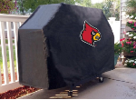 Louisville Grill Cover with Cardinals Logo on Black Vinyl