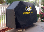 Michigan Tech Grill Cover with Huskies Logo on Black Vinyl