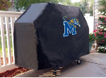 Memphis Grill Cover with Tigers Logo on Black Vinyl