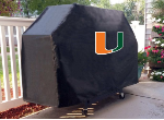 Miami Grill Cover with Hurricanes Logo on Black Vinyl