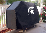Michigan State Grill Cover with Spartans Logo on Black Vinyl