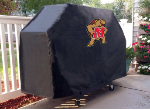 Maryland Grill Cover with Terrapins Logo on Black Vinyl