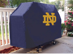 Notre Dame Grill Cover with Fighting Irish ND Logo on Blue Vinyl