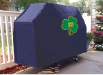 Notre Dame Grill Cover with Fighting Irish Shamrock Logo on Vinyl